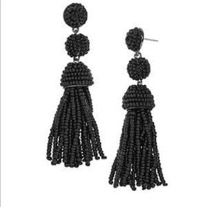 BaubleBar Black Beaded Earrings